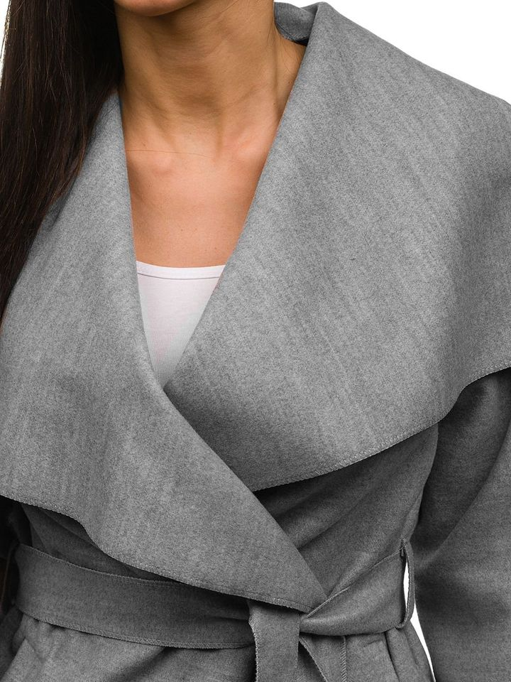 ... Сіре жіноче пальто Bolf 1726 ... 2ec0821876cf1