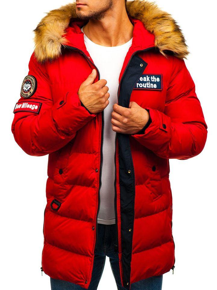 Чоловіча зимова куртка парка червона Bolf 5315 ЧЕРВОНИЙ 3c2d3c90d4af1