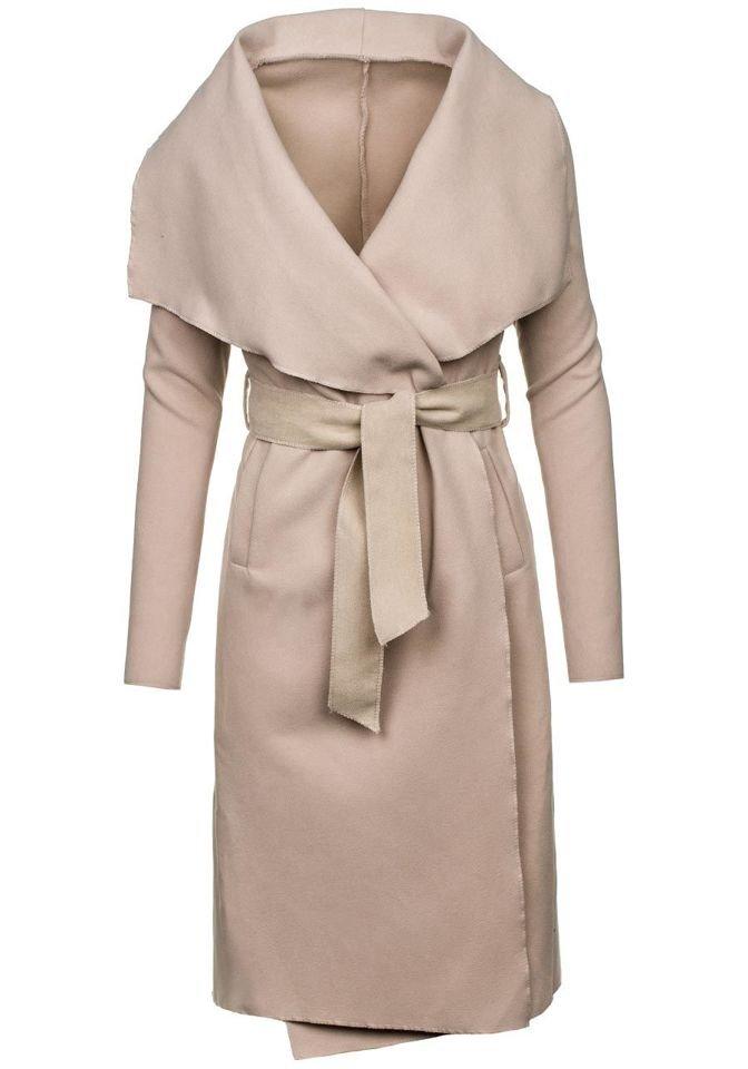 Бежеве жіноче пальто Bolf 1729 ЕКРІ d4cd8abef3861