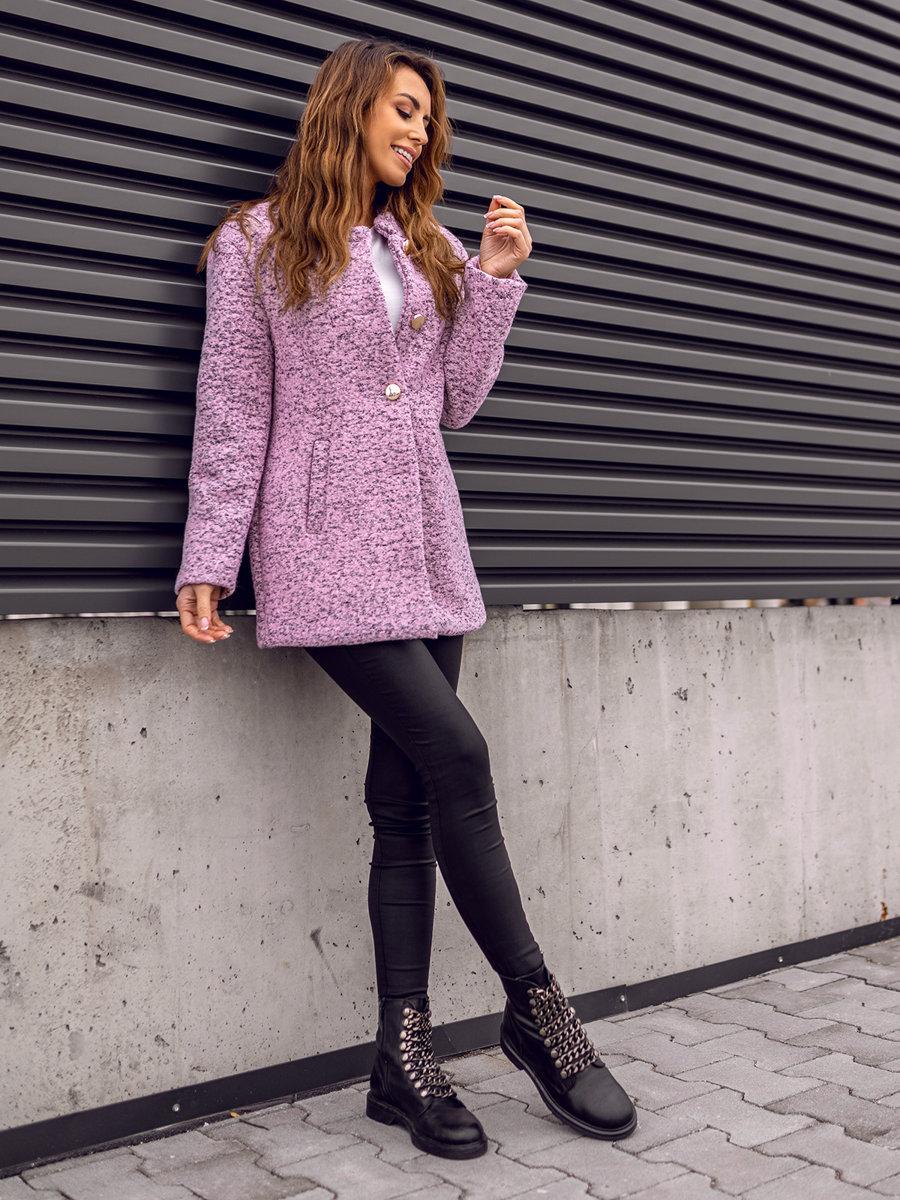 Жіноча пальто рожеве Bolf 6011-1 РОЖЕВИЙ 38b8808e7a0b9