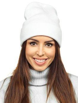 Белая женская зимняя шапка YW09004