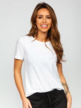 Белая женская футболка без принта Bolf SD211