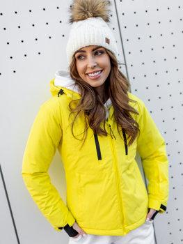 Белая зимняя женская лыжная куртка Bolf HH012