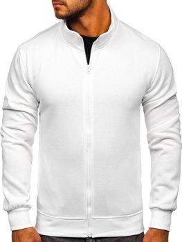 Белая мужская толстовка без капюшона Bolf B2002
