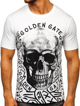 Белая мужская футболка с принтом Bolf KS7332