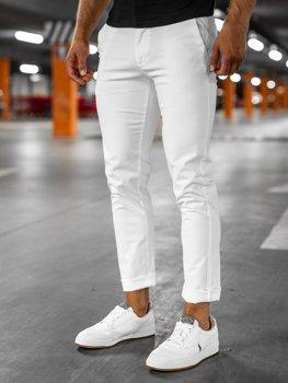 Белые мужские брюки чиносы Bolf 1146