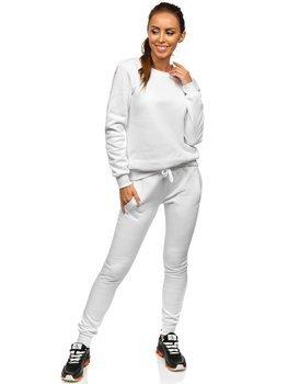 Белый женский спортивный костюм Bolf 0001