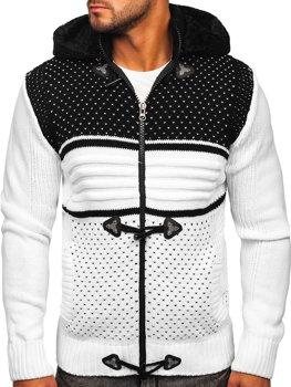 Белый мужской свитер толстой вязки Bolf 2047