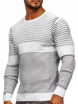 Белый мужской свитер Bolf 1014
