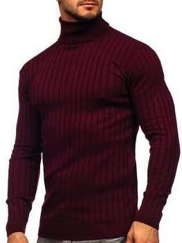 Белый свитер гольф мужская водолазка Bolf 520