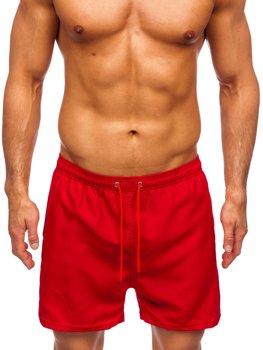 Бордовые мужские пляжные шорты Bolf YW02001