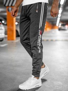 Графитовые мужские спортивные брюки Bolf JX9511