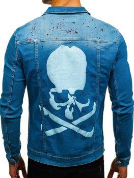 Джинсовая куртка мужская синяя Bolf 2052-1