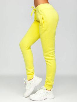 Желтые женские спортивные брюки Bolf CK-01
