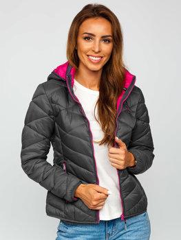 Женская графитовая зимняя куртка Bolf AB027