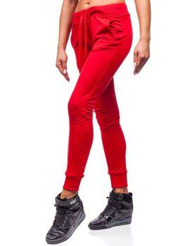 Женские спортивные брюки красные Bolf WB11003