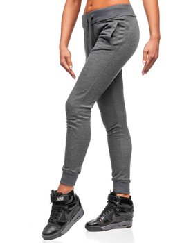Женские трикотажные брюки графитовые Bolf WB11003