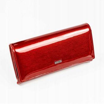 Женский кожаный кошелек красный 887