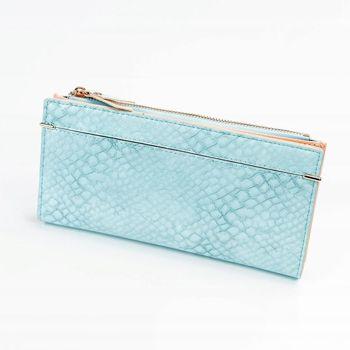 Женский кошелек с эко кожи синий 1050