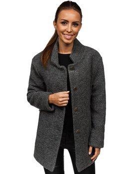 Женское пальто антрацитовое Bolf 1950