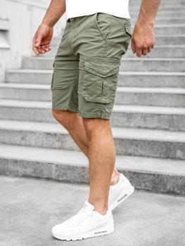 Зеленый мужские шорты карго Bolf DF3053