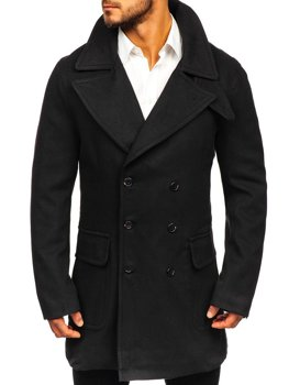 Зимнее мужское пальто черное Bolf 1048