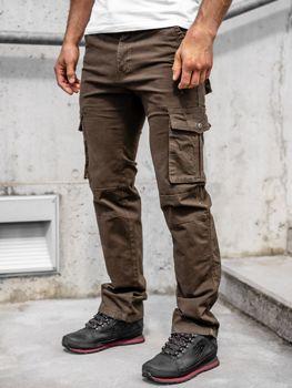 Коричневые мужские брюки карго с поясом Bolf 8813