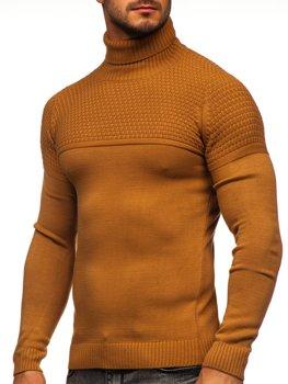 Коричневый свитер мужской гольф Bolf 4624