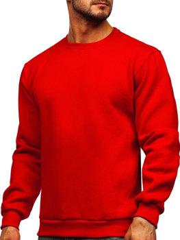 Красная мужская толстовка без капюшона Bolf 2001