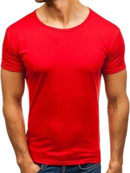 Красная футболка мужская без принта Bolf 2006