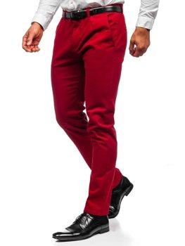 Красные мужские брюки чиносы Bolf 1143