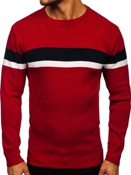 Красный мужской свитер Bolf H2072