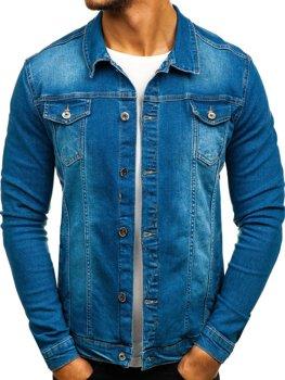 Куртка джинсовая мужская синяя Bolf 2050