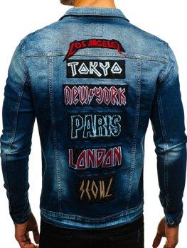Куртка джинсовая мужская темно-синяя Bolf 2050