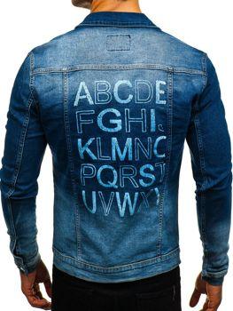 Куртка джинсовая мужская темно-синяя Bolf 2051