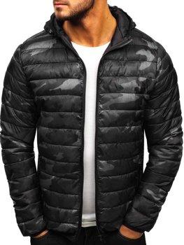 Куртка мужская демисезонная спортивная камуфляж-графитовая Bolf LY1001-1