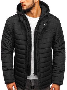 Куртка мужская демисезонная черная Bolf 1675