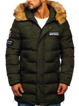Куртка мужская зимняя утепленная цвета хаки Bolf 5972
