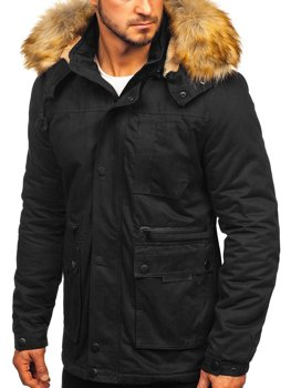 Куртка мужская зимняя черная Bolf JK323