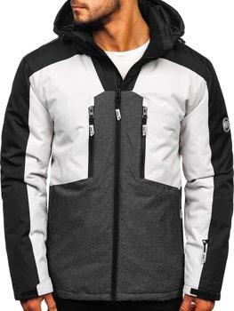 Куртка мужская лыжная серая Bolf 1340
