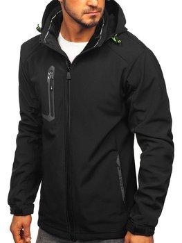 Куртка мужская софтшелл черно-желтая Bolf 12267