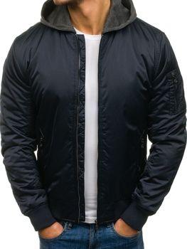 Куртка мужская HIKIS 57NA темно-синяя
