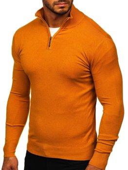 Кэемел мужской свитер с высоким воротником стойка Bolf YY08