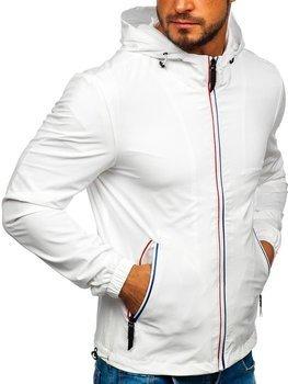 Мужская демисезонная куртка белая Bolf 5683