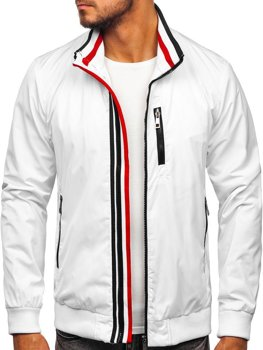 Мужская демисезонная куртка белая Bolf K01