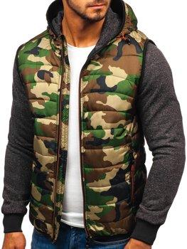 Мужская демисезонная куртка камуфляж-оранжевая Bolf 3757