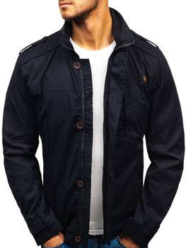 Мужская демисезонная куртка темно-синяя Bolf 005