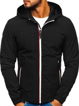 Мужская демисезонная куртка черная Bolf 5683