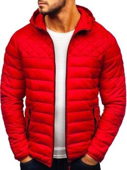 Мужская демисезонная спортивная куртка красная Bolf LY1010