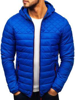 Мужская демисезонная спортивная куртка синяя Bolf LY1010
